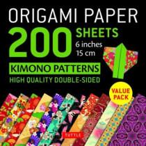Origami Paper 200 sheets Kimono Patterns 6 (15 cm) by Tuttle Publishing, 9780804850803