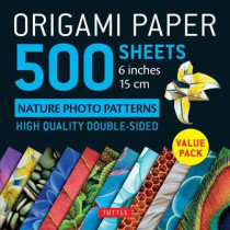 Origami Paper 500 sheets Nature Photo Patterns 6 (15 cm) by Tuttle, 9780804851589