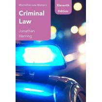Criminal Law by Jonathan Herring, 9781352005332