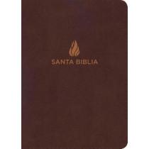 RVR 1960 Biblia Letra Grande Tamano Manual marron, piel fabricada con indice, 9781462791682