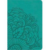 RVR 1960 Biblia Compacta Letra Grande aqua, simil piel con indice, 9781462791743