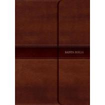 RVR 1960 Biblia Compacta Letra Grande marron, simil piel con indice y solapa con iman, 9781535902670