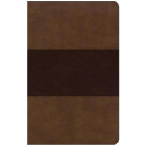 KJV Large Print Personal Size Reference Bible, Saddle Brown Leathertouch Indexed by Holman Bible Staff, 9781535935609