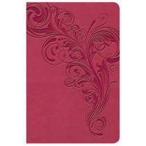 KJV Large Print Compact Reference Bible, Pink LeatherTouch by Holman Bible Staff, 9781535935746