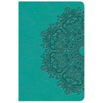 KJV Large Print Compact Reference Bible, Teal LeatherTouch by Holman Bible Staff, 9781535935753