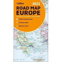 2021 Collins Map of Europe by Collins Maps, 9780008374341