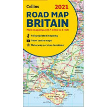 2021 Collins Map of Britain by Collins Maps, 9780008374402