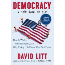 Democracy in One Book or Less: How It Works, Why It Doesn't, and Why Fixing It Is Easier Than You Think [Large Print] by David Litt, 9780062999092