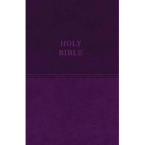 KJV, Value Thinline Bible, Large Print, Leathersoft, Purple, Red Letter Edition, Comfort Print: Holy Bible, King James Version by Zondervan, 9780718098063