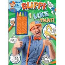 Blippi: I Like That! Coloring Book with Crayons: Blippi Coloring Book with Crayons by Editors of Studio Fun International, 9780794445379