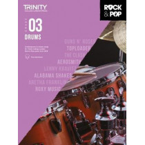 Trinity College London Rock & Pop 2018 Drums Grade 3 CD Only, 9780857366412
