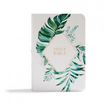 CSB On-the-Go Bible, White Floral Textured LeatherTouch by Holman Bible Staff, 9781087702421