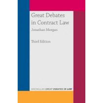 Great Debates in Contract Law by Jonathan Morgan, 9781352009989