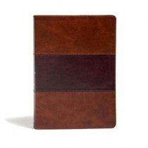 KJV Super Giant Print Reference Bible, Saddle Brown LeatherTouch by Holman Bible Staff, 9781535954532