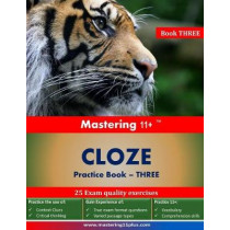 Mastering 11+ Cloze Practice Book 3: Practice book 3 by Ashkraft Educational, 9781910678046
