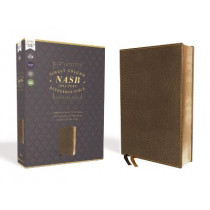 NASB, Single-Column Reference Bible, Wide Margin, Leathersoft, Brown, 1995 Text, Comfort Print by Zondervan, 9780310451167