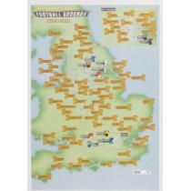 92 Football Grounds Collect & Scratch Print, 9781910378212