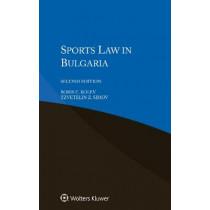 Sports Law in Bulgaria by Boris E. Kolev, 9789041193131