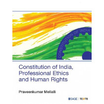 Constitution of India, Professional Ethics and Human Rights by Praveen Kumar Mellalli, 9789351507710